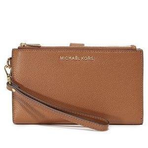 Michael Kors Adele double zip wallet. New